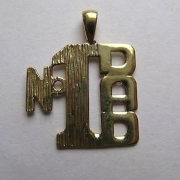 9ct Gold Number 1 Dad Pendant 0.9g